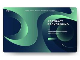 Liquid Abstract Background Green Minimal for landing pages vector