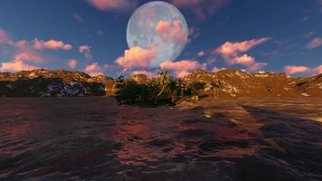 panorama de la luna llena en la noche video