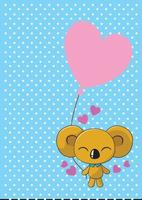 koala, globos, colección de ilustraciones vector
