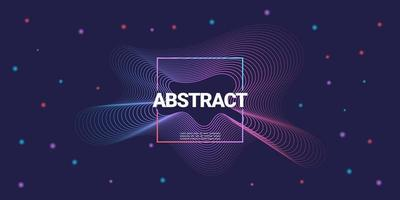 Abstract music background colorful wave line art design Suitable for posters flyers banners advertising websites etc Vector Illustration