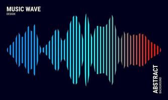Music abstract background colored in blue and red gradations Equalizer for music Vector Illustration