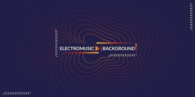 Abstract music background colorful electro sound wave design vector