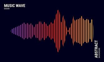 Music abstract background colored in purple red and yellow gradations vector