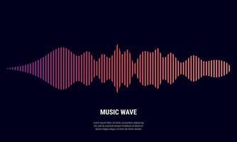 Música de fondo abstracto coloreado en rojo gradaciones vector