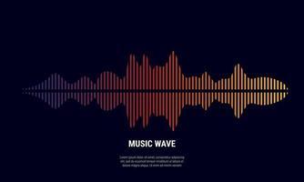 Música de fondo abstracto coloreado en gradaciones de rojo y amarillo púrpura vector