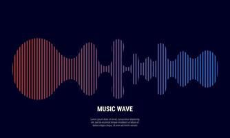 Música de fondo abstracto coloreado en rojo y azul gradaciones vector