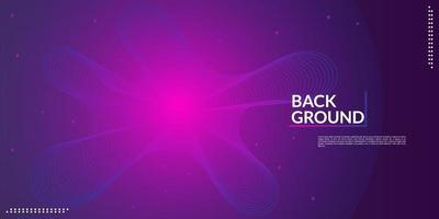 Music wave background design An electronic music party in dark pink and blue gradations vector