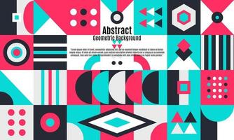 Abstract geometric background with minimal trendy design vector