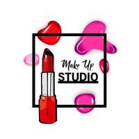 Makeup studio logo design template vector