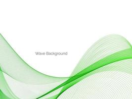 Abstract green decorative stylish  modern wave design banner background vector