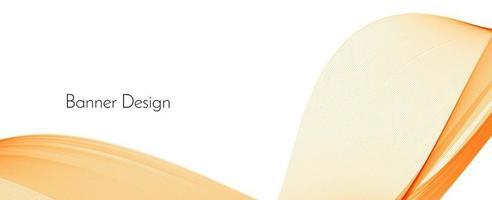 Fondo de banner de onda de patrón decorativo rojo y amarillo elegante dinámico moderno abstracto vector