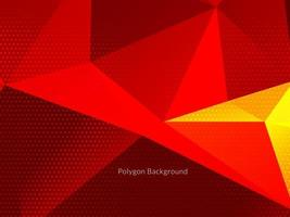 Modern colorful geometric polygon background vector