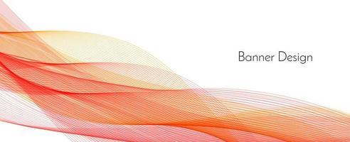 Fondo de banner de onda elegante decorativo moderno rojo abstracto vector