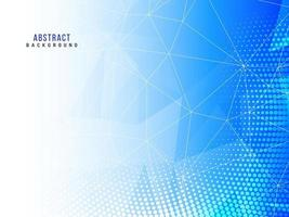 Abstract low poly stylish blue design background vector