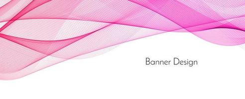 Abstract stylish pink color decorative modern wave banner background vector