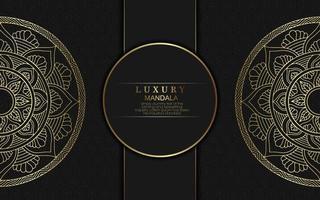 Luxury gold mandala ornate background vector