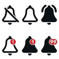 Notification bell icons vector