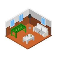Isometric Billiard Room vector