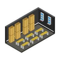 Isometric Locker Room Desk vector