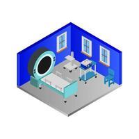 Isometric Hospital Room vector