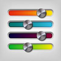 Real metal volume color button vector