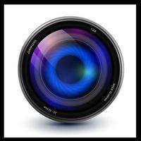 Camera lens photography vector
