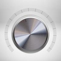 Real metal volume button vector