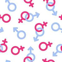 Seamless pattern of gender symbols of man and woman for the wedding or Valentine Day vector