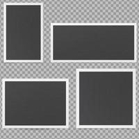 Mockup of frames in retro style Black photo frames vector