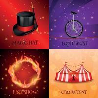 Ilustración de vector de concepto de diseño realista de circo