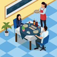 Catering Isometric Background Vector Illustration