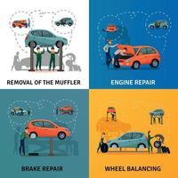 iconos de concepto de servicio de coche conjunto ilustración vectorial vector