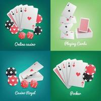 Casino Online Realistic Concept Vector Illustration