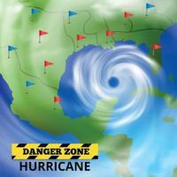 Dangerous Weather Forecast Background Vector Illustration