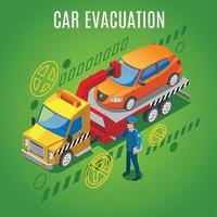 Isometric Parking Background Vector Illustration