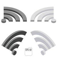 Isometric Wi Fi Wireless Network Symbol vector