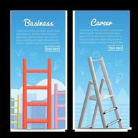 Career Ladders Realistic  Banners Vector Illustration