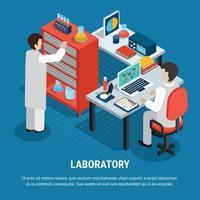 Medical Laboratory Isometric Concept Vector Illustration