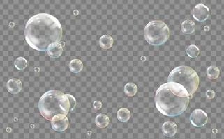 Realistic transparent colored soap or water bubble vector