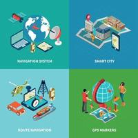 Navigation Concept Icons Set Vector Illustration