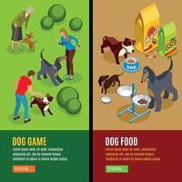 Dog Vertical Isometric Banners Vector Illustration