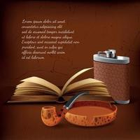Tobacco Realistic Background Vector Illustration