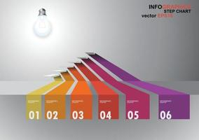 3 dimensions step infographics vector