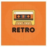 Ilustración de vector libre de cassette de tema retro