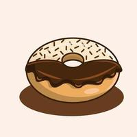chocolate donuts and sprinkled illustration vector