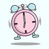 despertador en rosa pastel y azul ilustración vector