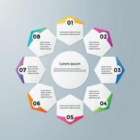 Infographics template for business vector