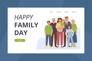 Happy family day vector