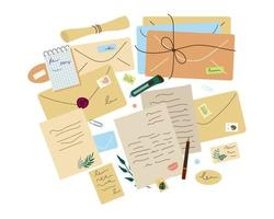 Various envelopes and letters vector