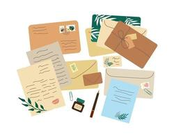 Different envelopes and letters vector